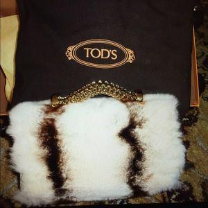 NEW Tod's handbag $3890 rare yummy fur